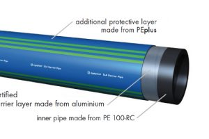 Barrier pipe for installation in contaminated soils